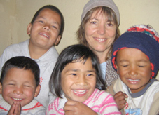 Kira Kay and Nepali children